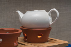Theepot voor Chinese kungfuthee Stock Afbeelding