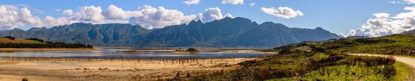 Theewaterskloof Dam in the dry season royalty free stock images