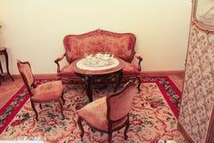 Theezaal het Paleis van Gatchina Stock Afbeelding
