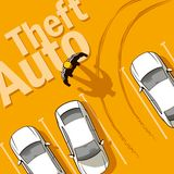 Theft Auto. The owner discovers the theft of his car from the parking lot Stock Photo