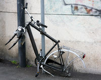 Theft. A chain is not enough to prevent the theft of a bicycle Royalty Free Stock Images