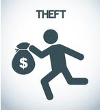 Theft design Stock Photography