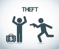 Theft design. Over gray background vector,illustration Royalty Free Stock Photography