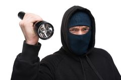 Theft with flashlight Royalty Free Stock Photo