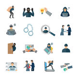 Theft Icons Set Royalty Free Stock Photos