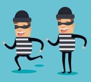 Theft identity avatar character. Vector illustration design Stock Photography