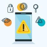 Theft identity set icons. Vector illustration design Royalty Free Stock Photo