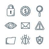 Theft identity set icons. Vector illustration design Stock Photos
