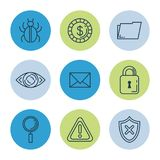 Theft identity set icons. Vector illustration design Stock Images