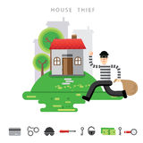 Theft Insurance Colourful Vector Illustration flat style Stock Images