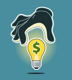 Theft of intellectual property. Illustration of theft of intellectual property Royalty Free Stock Photography