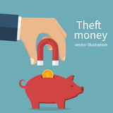 Theft money concept vector illustration