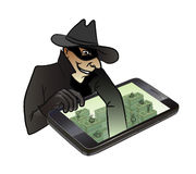 Theft of money Stock Image