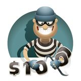 Theft Money Royalty Free Stock Images