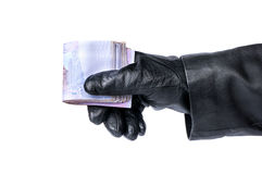 Theft money Stock Photo