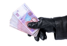 Theft money Royalty Free Stock Photography