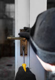 Theif breaking-in burglary security Royalty Free Stock Photography