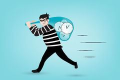 Theif of time in vector style Royalty Free Stock Photo