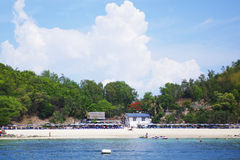 Their best sea in Thailand. Andaman ,asia,asian ,bay ,beach,beautiful,blue,boat Royalty Free Stock Images