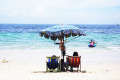 Their best sea in Thailand. Blue, sky, clouds,Vector, background Royalty Free Stock Photos