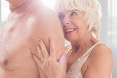 Their love survived decades Stock Photo