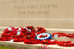 Their name liveth for evermore poppies. Stock Photography