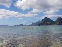 Set up for Full moon beach party in El nido palawan stock photography