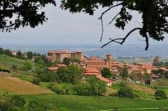 Theize - vista del villaggio in Francia Fotografie Stock