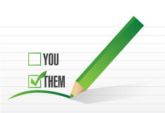 Them checkmark selection illustration Stock Images