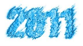 Thema 2011 des neuen Jahres Stockfoto