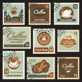 Thema des Kaffees Stockfoto