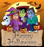 Thema met Gelukkige banner 3 van Halloween Royalty-vrije Stock Foto