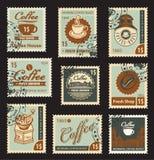 Thema van koffie Stock Afbeeldingen