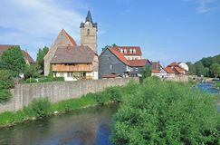Themar,Werra River,Thuringian Forest,Germany Stock Image