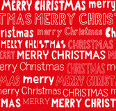 Thematic Christmas seamless pattern. Various typefaces saying `Merry Christmas Royalty Free Stock Images
