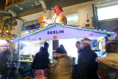 Thematic food stand Royalty Free Stock Photography