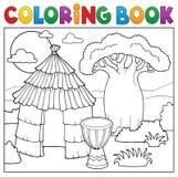 Thematics africano 1 del libro de colorear libre illustration