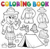 Thematics 1 del explorador del libro de colorear libre illustration