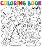 Thematics 4 do Natal do livro para colorir Foto de Stock
