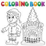 Thematics 8 för jul för färgläggningbok stock illustrationer