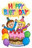 Thematicsbild 2 för lycklig födelsedag royaltyfri illustrationer