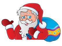 Thematisch beeld 6 van de Kerstman Stock Afbeelding