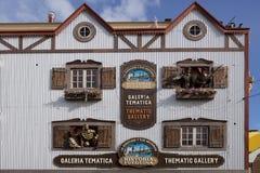 Thematische Galerie in Ushuaia, Argentinien stockfotografie