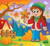 Thematisches Bild 8 des Herbstes Lizenzfreies Stockbild