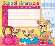 Thematisches Bild 5 des Schulzeitplanes Lizenzfreie Stockbilder
