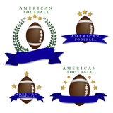 The theme American football. Royalty Free Stock Photo