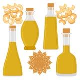 The theme bottles oil Stock Photo