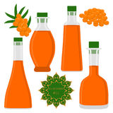 The theme bottles oil Royalty Free Stock Image