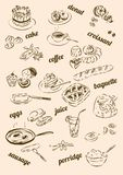 The theme for the Breakfast menu vector illustration