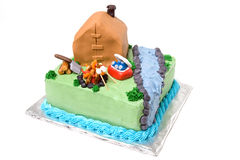 Theme Camping Cake Royalty Free Stock Photos